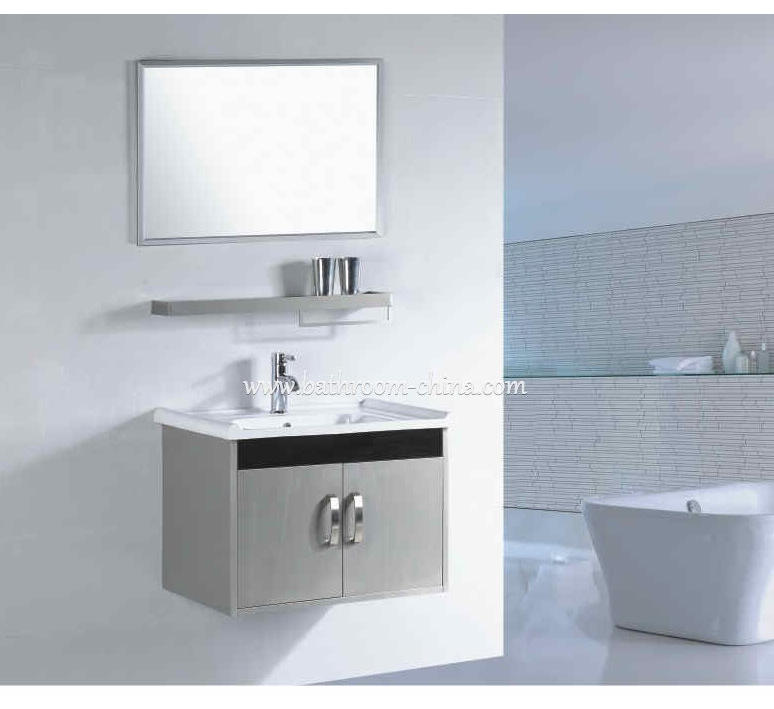 stainless steel bathroom furniture chinese factory in bathroom vanity bathroom cabinet