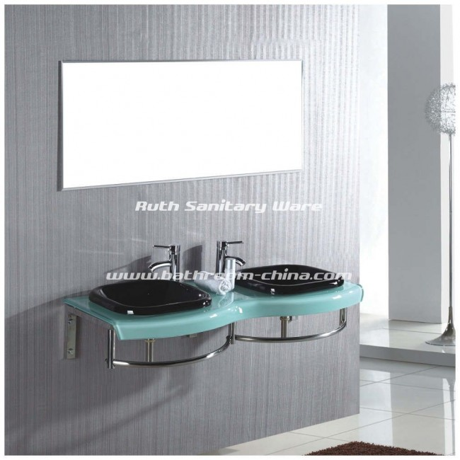 Double Glass Basin ,Double vessel basin ,Glass cabinet