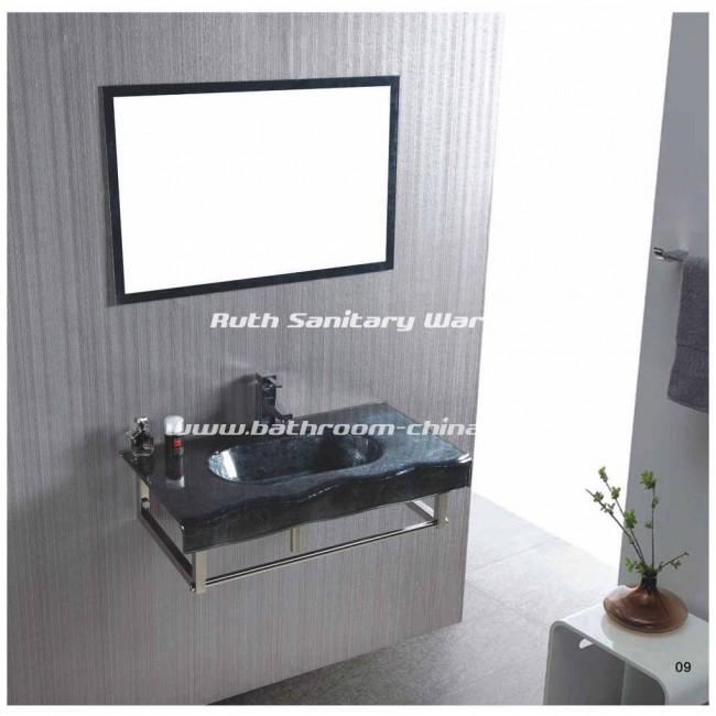 Single Glass Basin ,Single vessel basin ,Glass cabinet