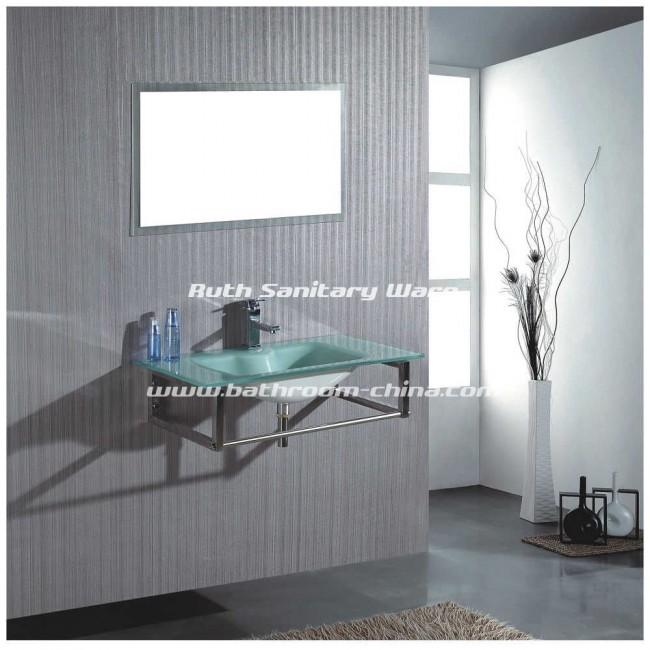 Glass bathroom furniture | China bath vanities manufacturer and ...