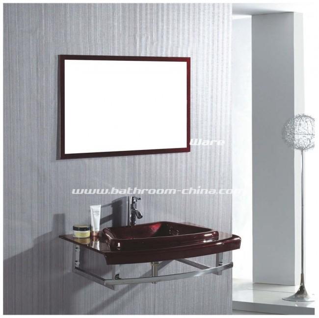 Glass bathroom vanity, Glass basin, Glass bathroom cabinet
