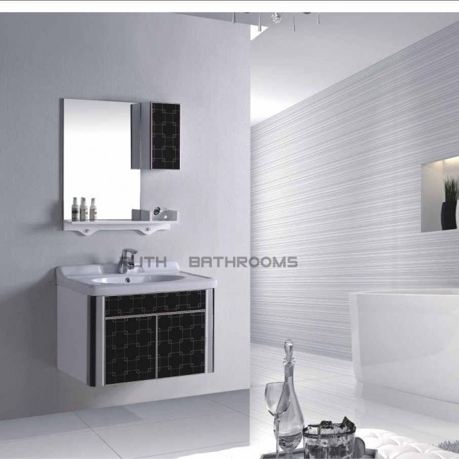 PVC bathroom cabinet, Door with Glass RP-H6201