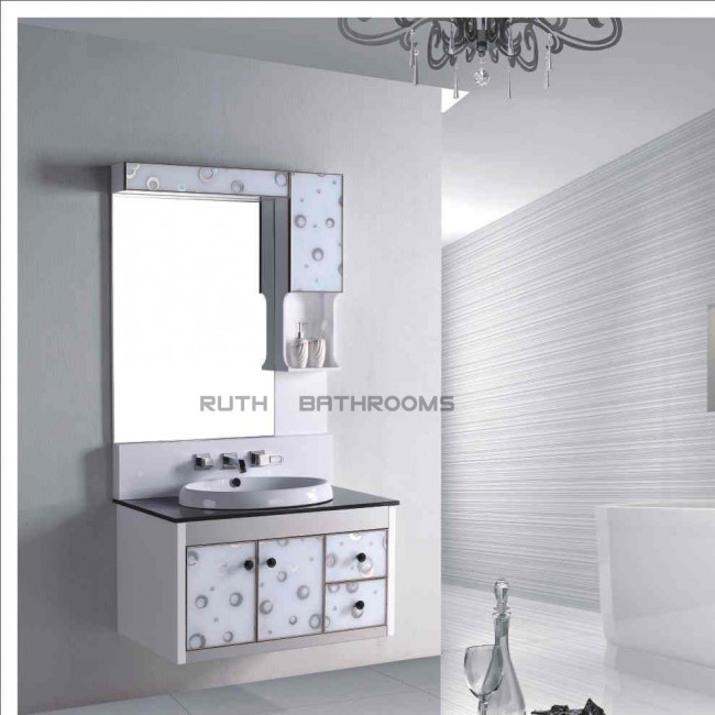 PVC bath cabinet Door with Glass RP-H6206
