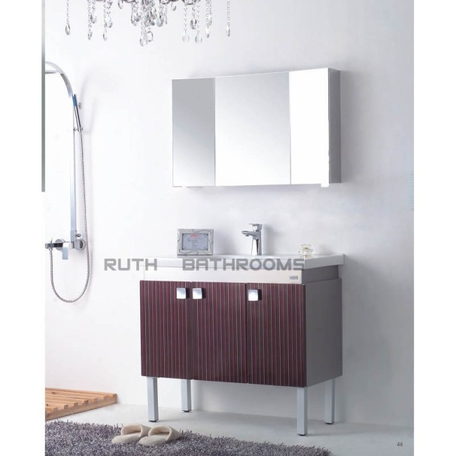 304 stainless steel bathroom cabinet with mirror cabinet , Floor mounted style