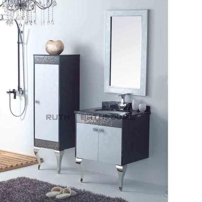 Stainless steel bathroom furniture china bath vanities manufacturer and factory of bathroom Stainless steel bathroom vanities