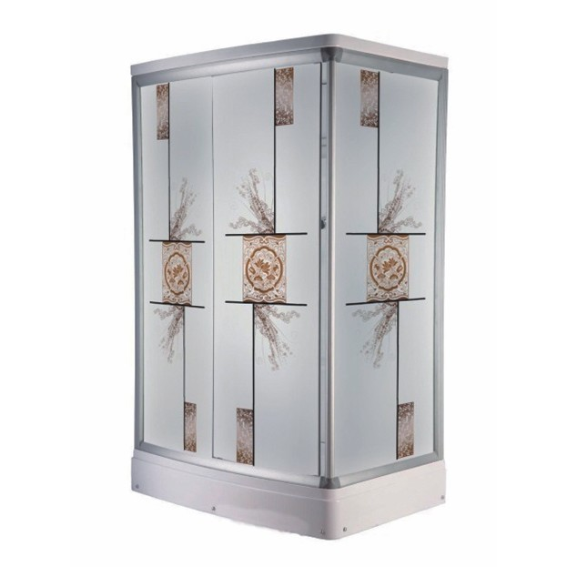 china shower enclosure with flower design