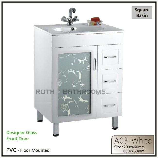 PVC BATHROOM CABINET A03-WHITE