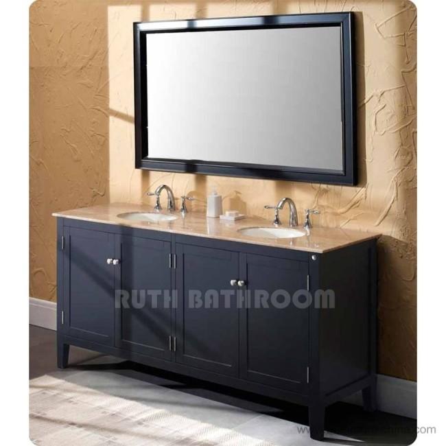 Double sink bathroom vanity RT338-72
