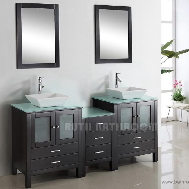 Double bathroom vanity RU111-72E