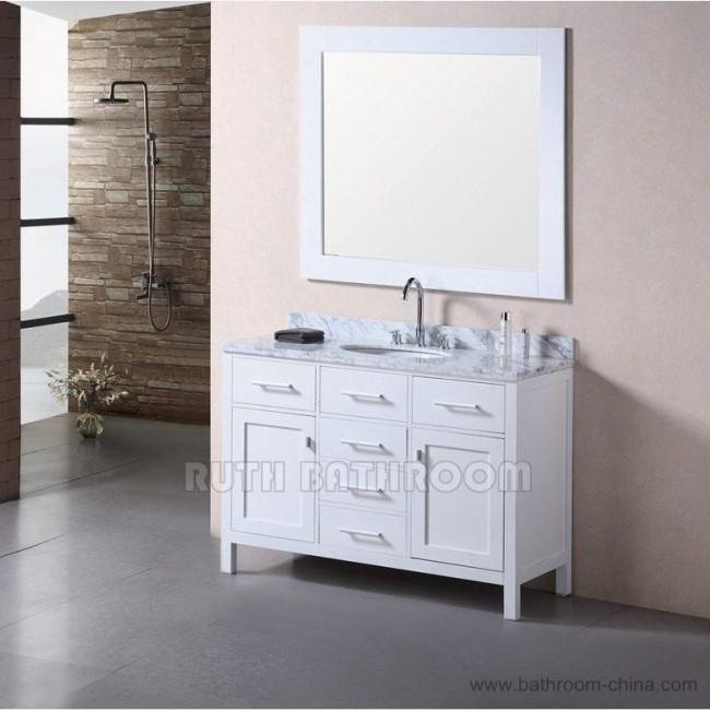 White bathroom vanity RU305-48W