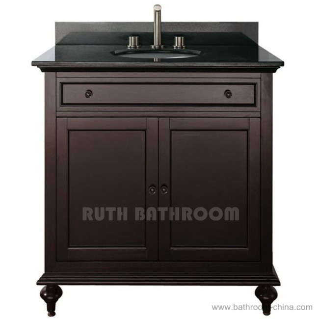 Wooden Bathroom Cabinets/Solid Wood Bathroom Cabinet RU313 24E
