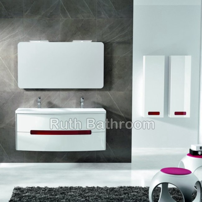 Resin Bathroom furniture , France bathroom cabinet A5013