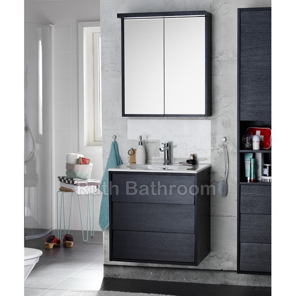 Name  China Modern Wall Hanging Bathroom Cabinet With Mirror Cabinet A5065. china bathroom cabinets   Nordic style bathroom vanity   wall hung