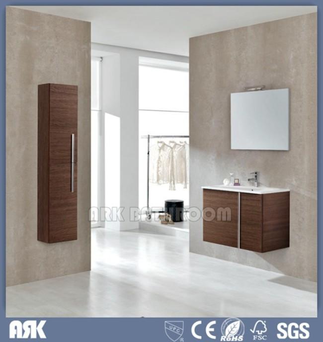 Custom bathroom vanities  floating bathroom vanity with Light ,side cabinet  A5035