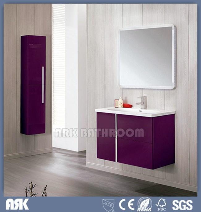 Custom bathroom vanities  floating bathroom vanity with Light ,side cabinet