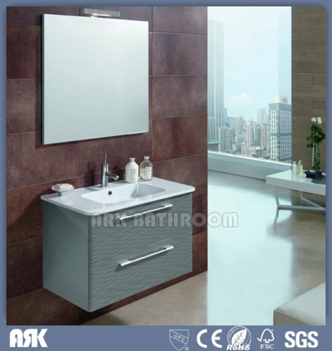 Glass bathroom vanity oak bathroom vanity A5057 | China bath ...