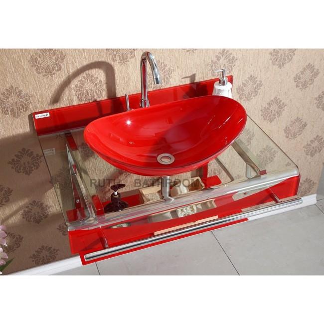Glass basin sink glass vessel bowl factory Bali-2