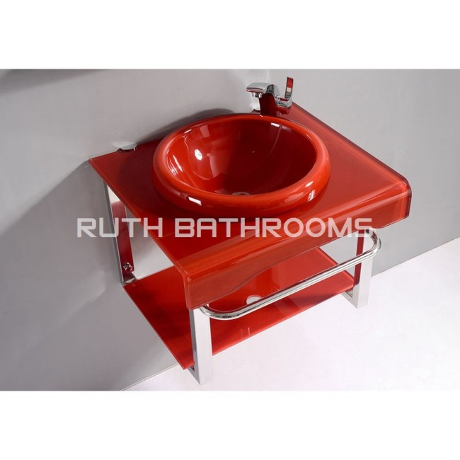 Glass basin cabinet  manufacturer Tempered Glass basin factory  Glass vessel bowl Glass wash sink GB5200