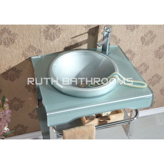Glass basin cabinet  manufacturer Tempered Glass basin factory  Glass vessel bowl Glass wash sink GB5202-2