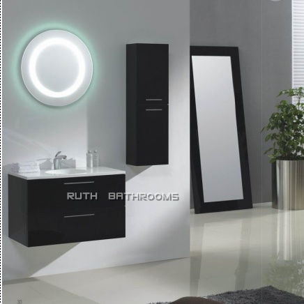Modern Bathroom Set LED Mirror Bath Cabinets REU026 80